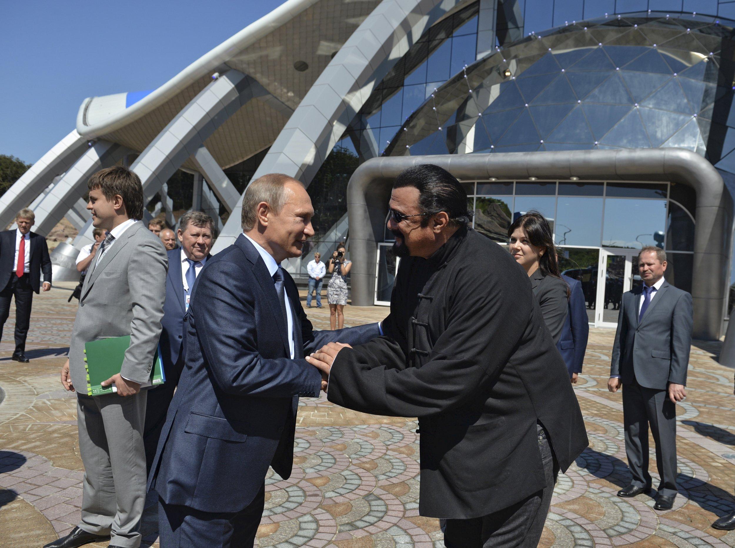Putin and Seagal
