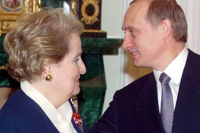 Albright meets Putin