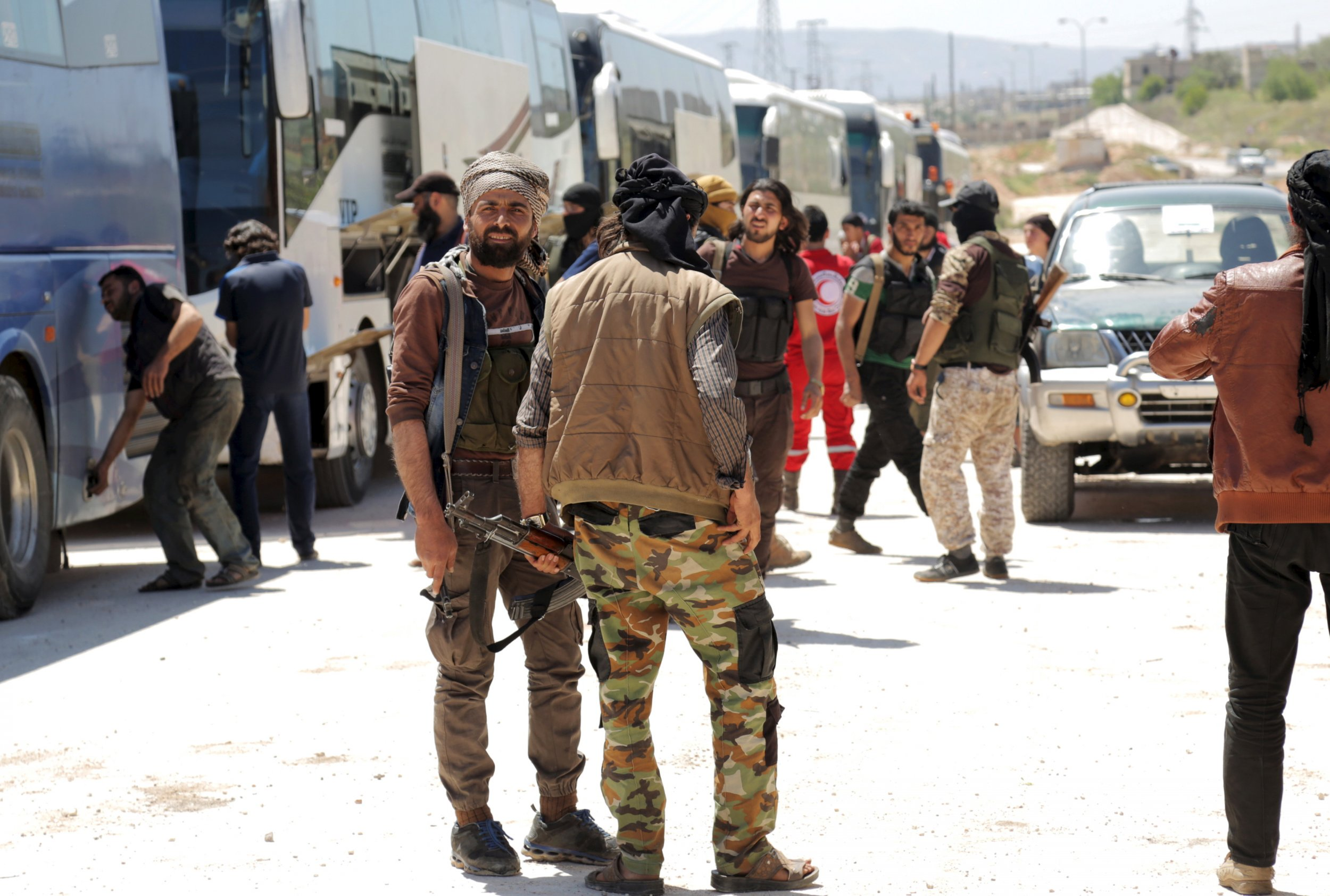 Syria Evacuation Siege Rebels Assad