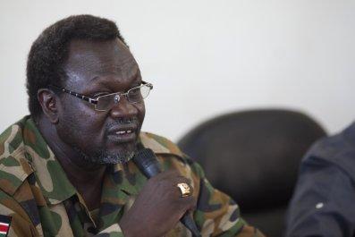 South Sudanese rebel leader Riek Machar.