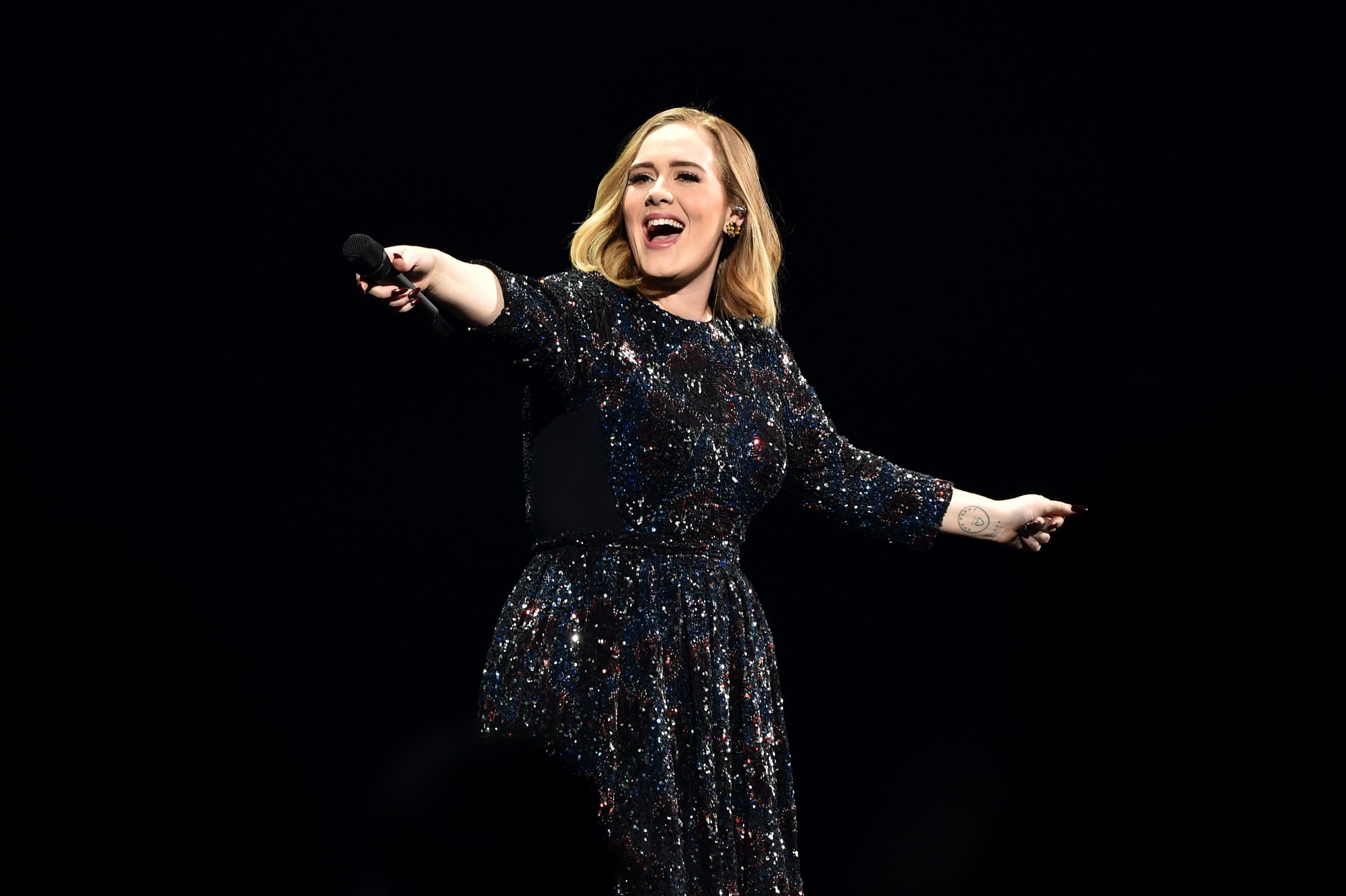 Adele performs in Birmingham
