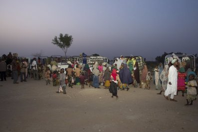 Nigerian women and children rescued from Boko Haram.