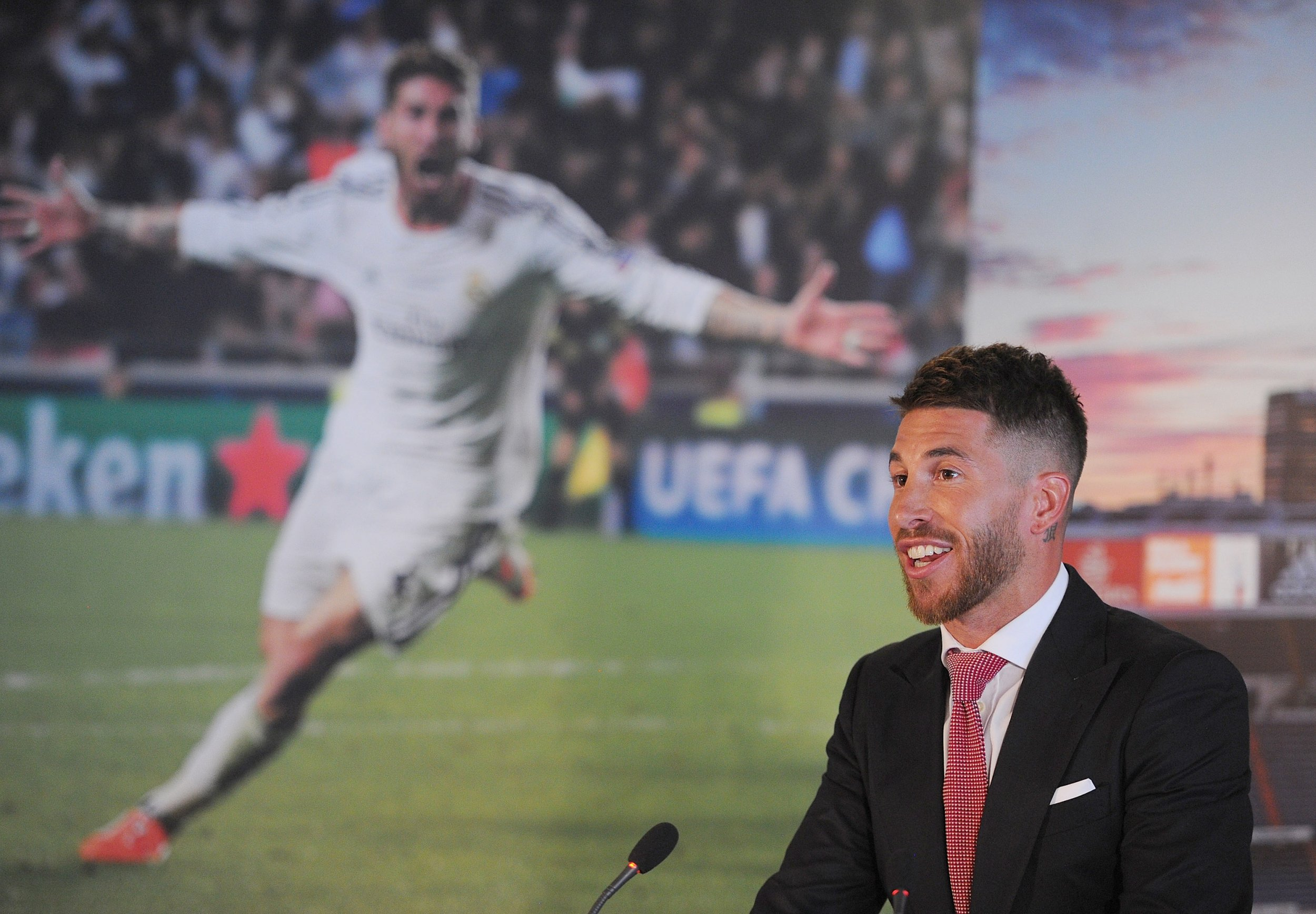 Real Madrid captain Sergio Ramos.