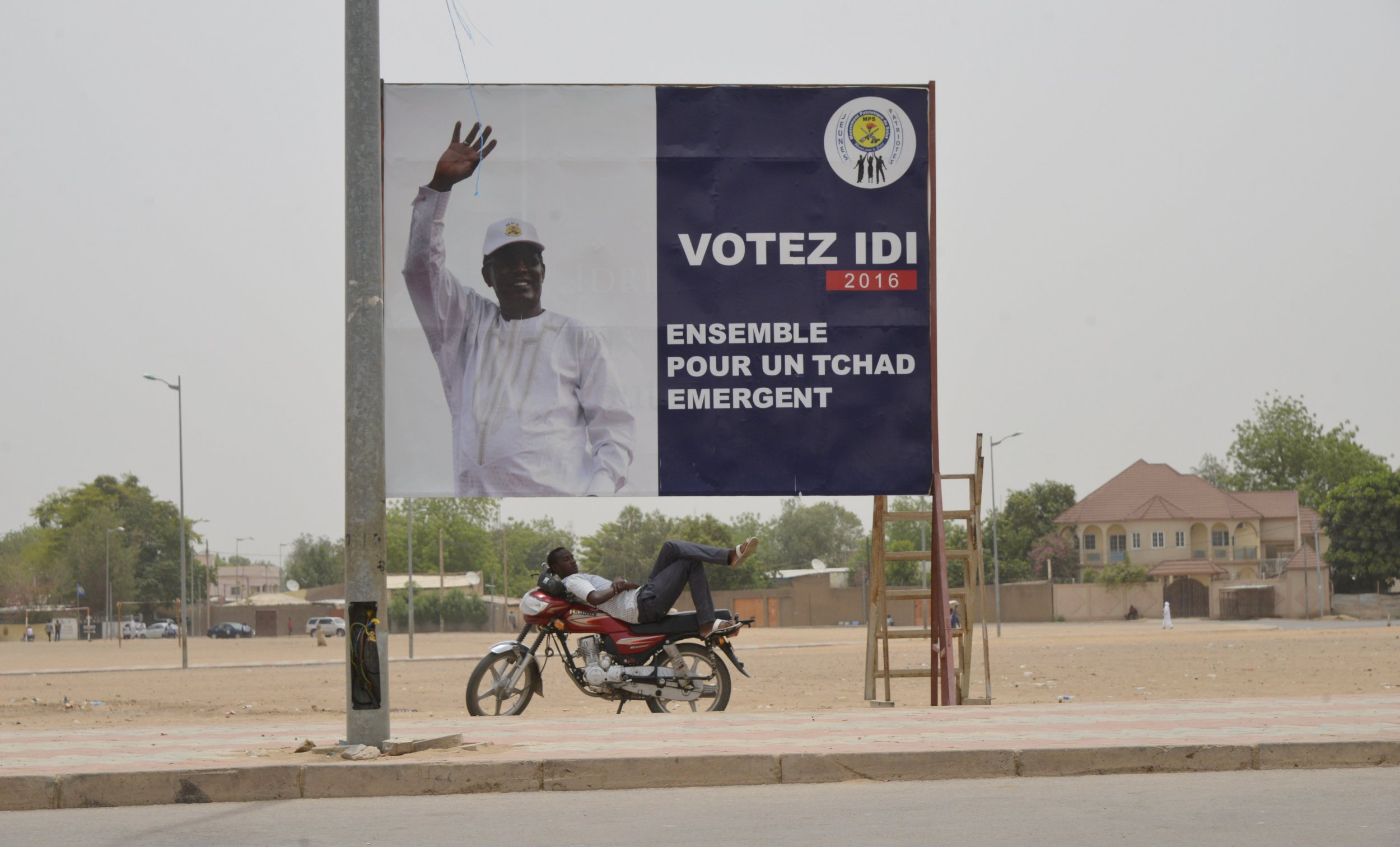 Poster of Chadian President Idriss Deby.