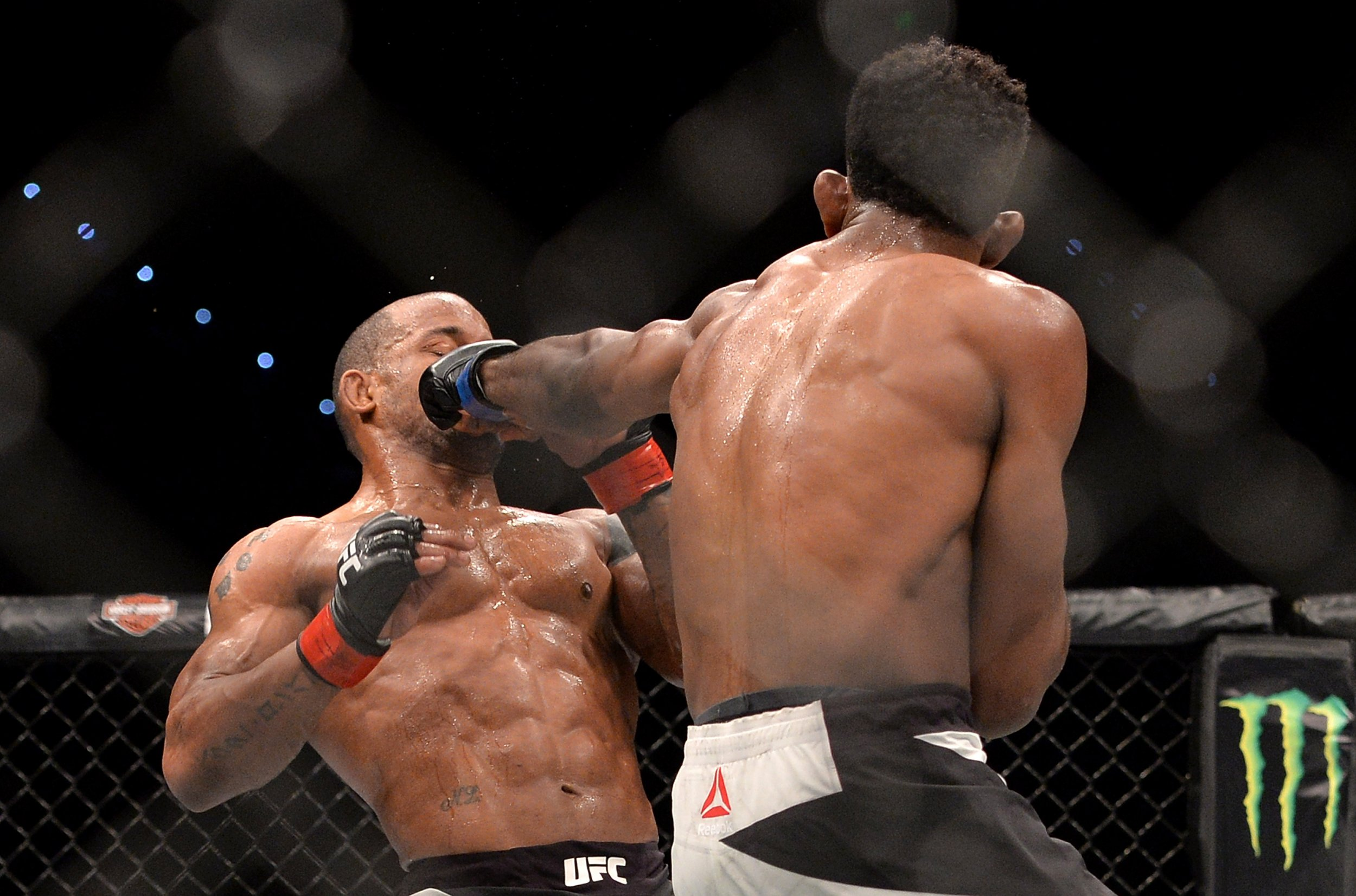 UFC fighters in action.