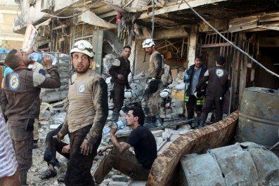Rebels Aleppo Airstrikes Assad Syria