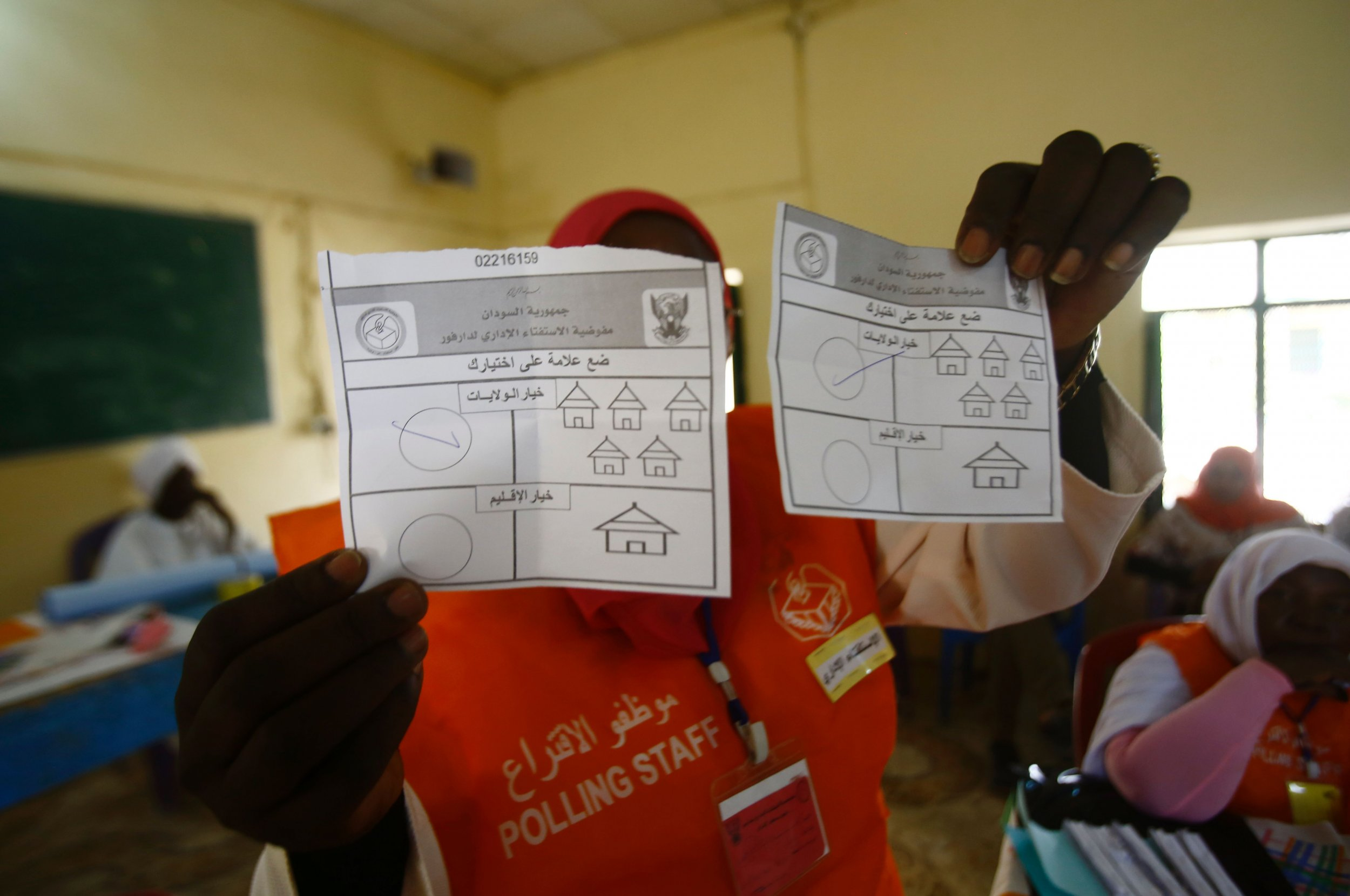 Darfur votes counted in Sudan.
