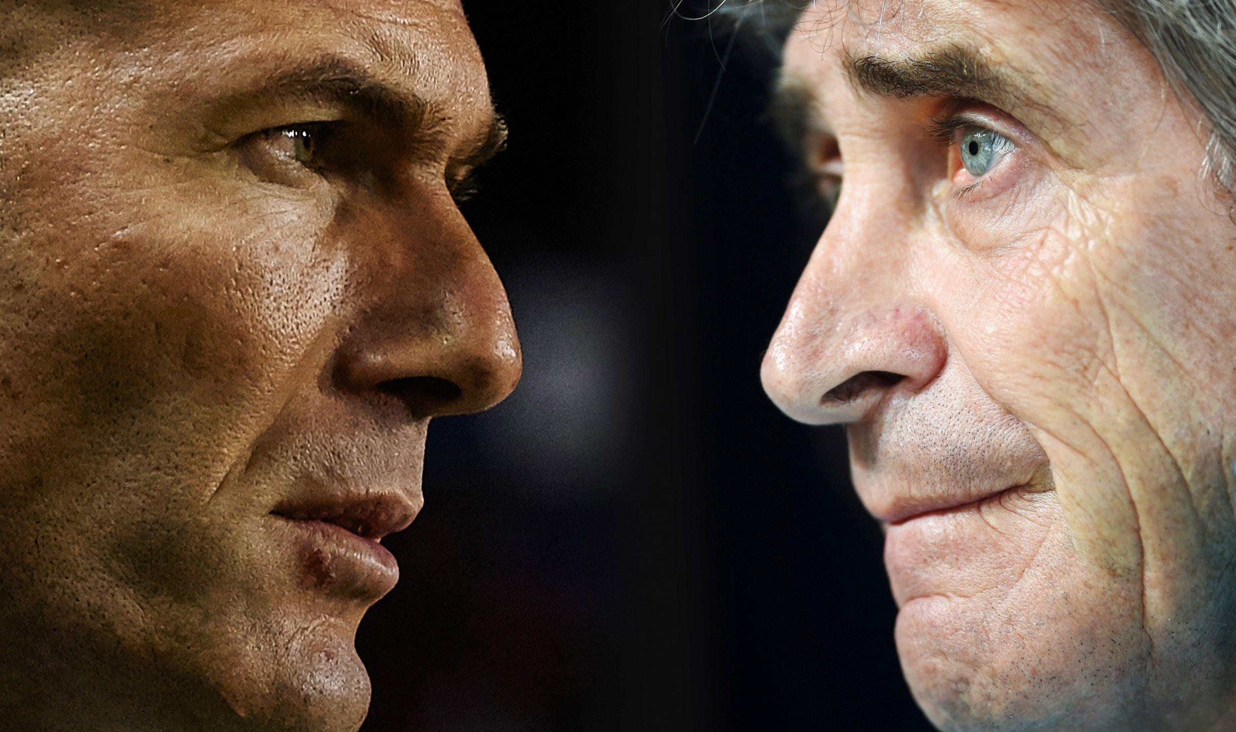 Zidane and Pellegrini