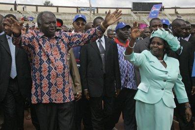 Lucy Kibaki with Mwai Kibaki