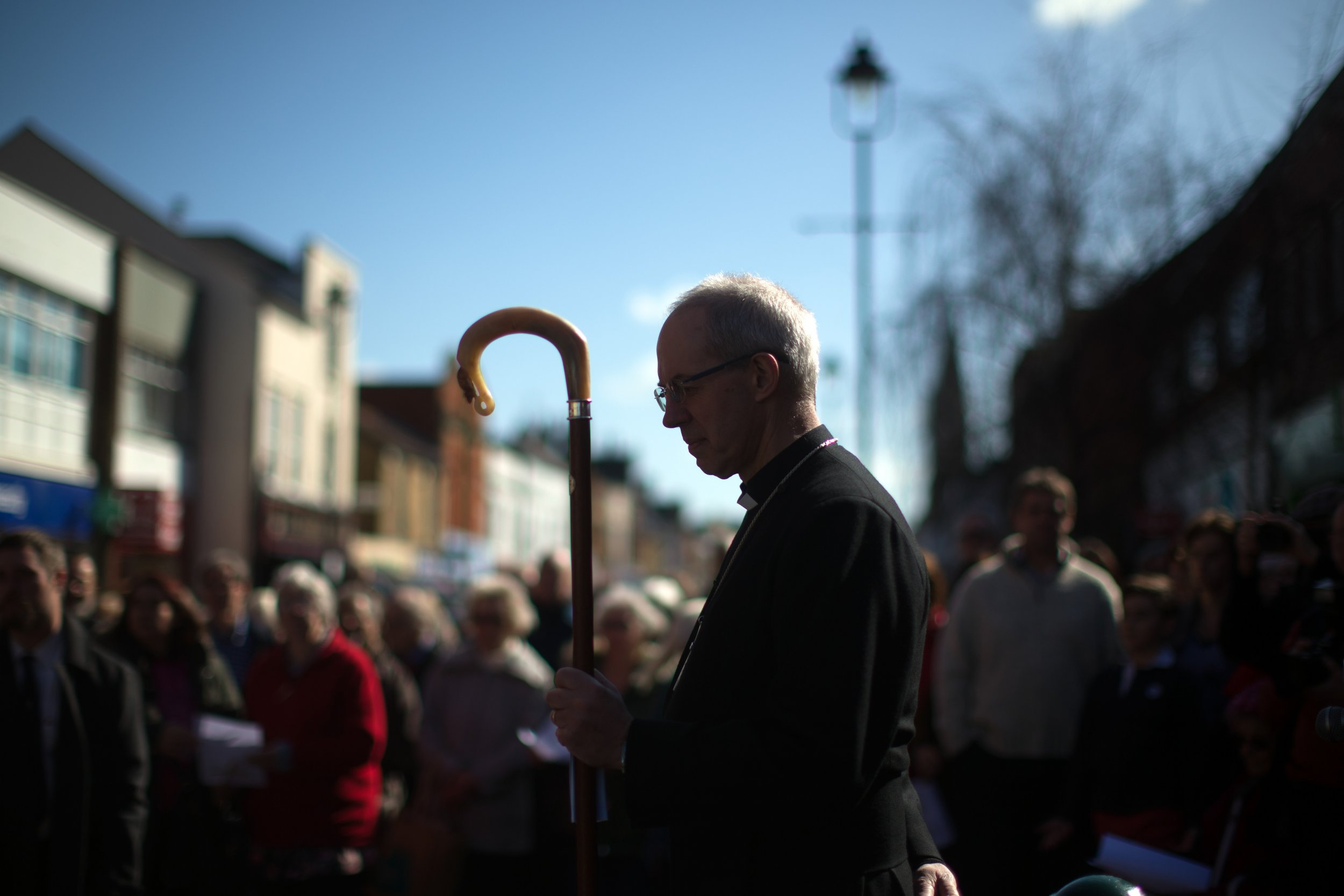Archbishop of Canterbury Justin Welby at march of witness.