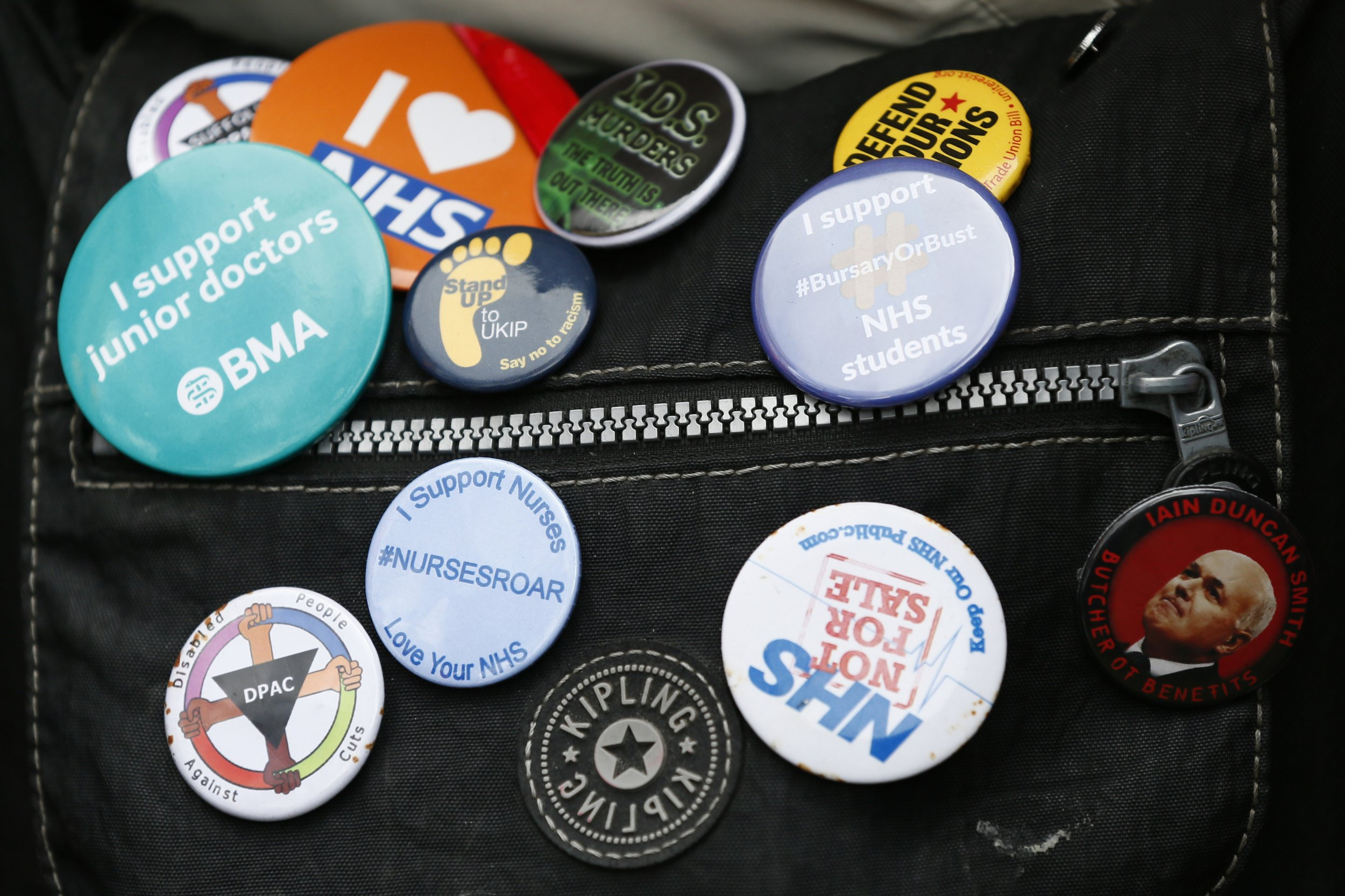 Doctors strike buttons