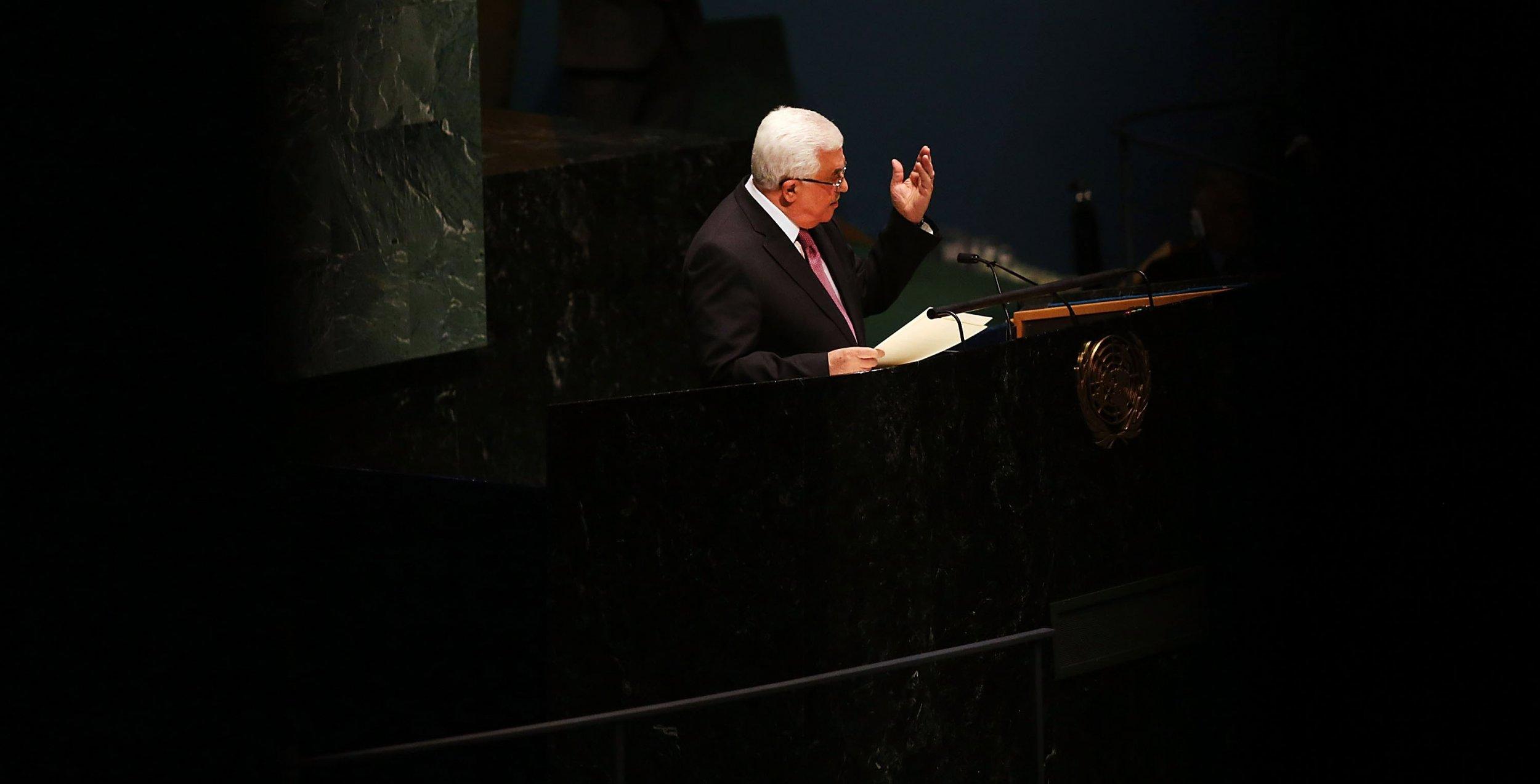 Mahmoud Abbas Obama Israel Palestinian Territories West Bank