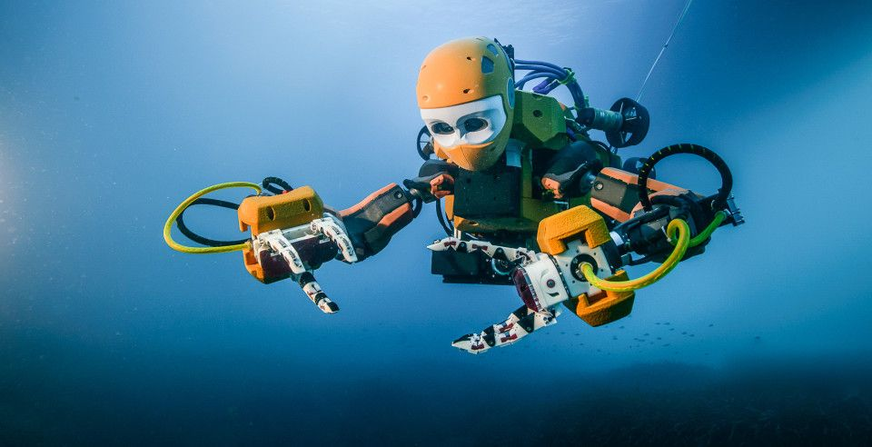 artificial intelligence OceanOne robotics AI scuba
