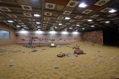 Mars terrain sandpit