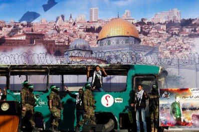 Hamas Rally Jerusalem Bomb Gaza