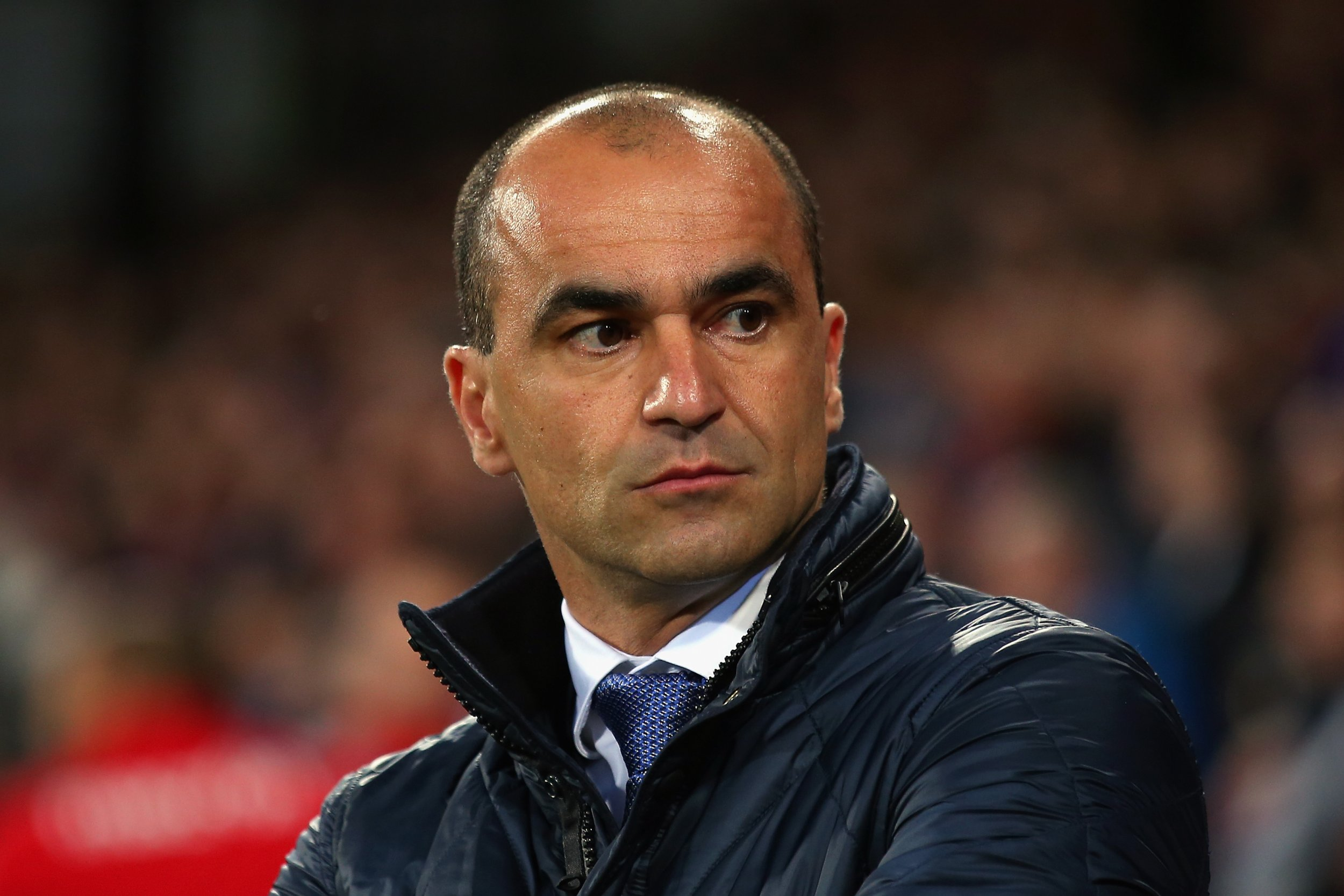 Roberto Martinez during Everton's goalless draw with Crystal Palace at ...