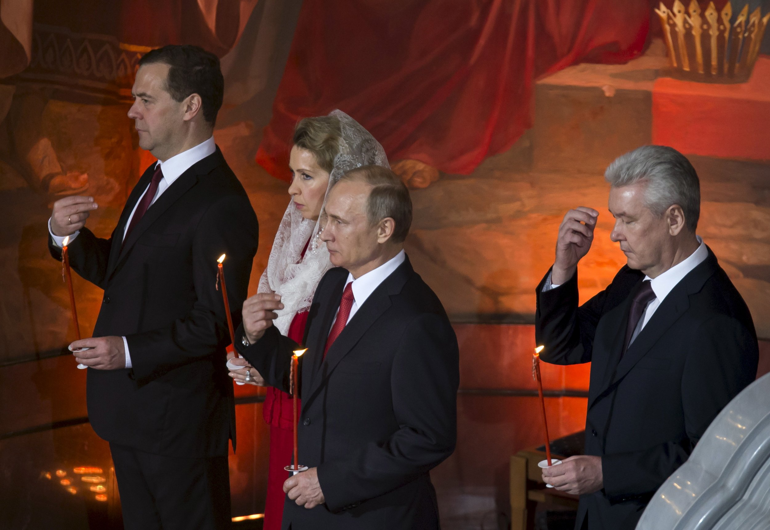 Putin, Sobyanin and the Medvedev family