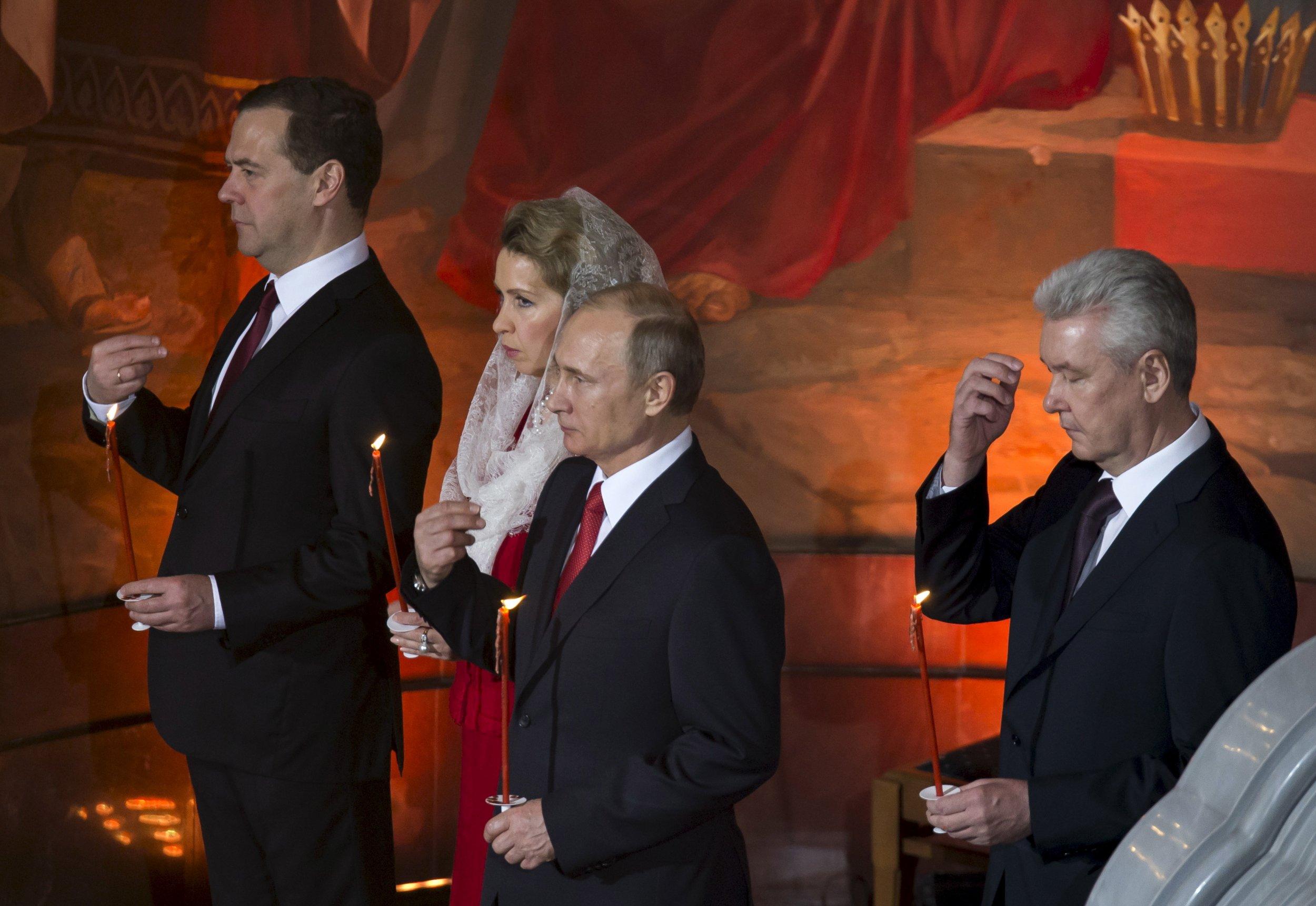 Putin, Sobyanin and the Medvedev family