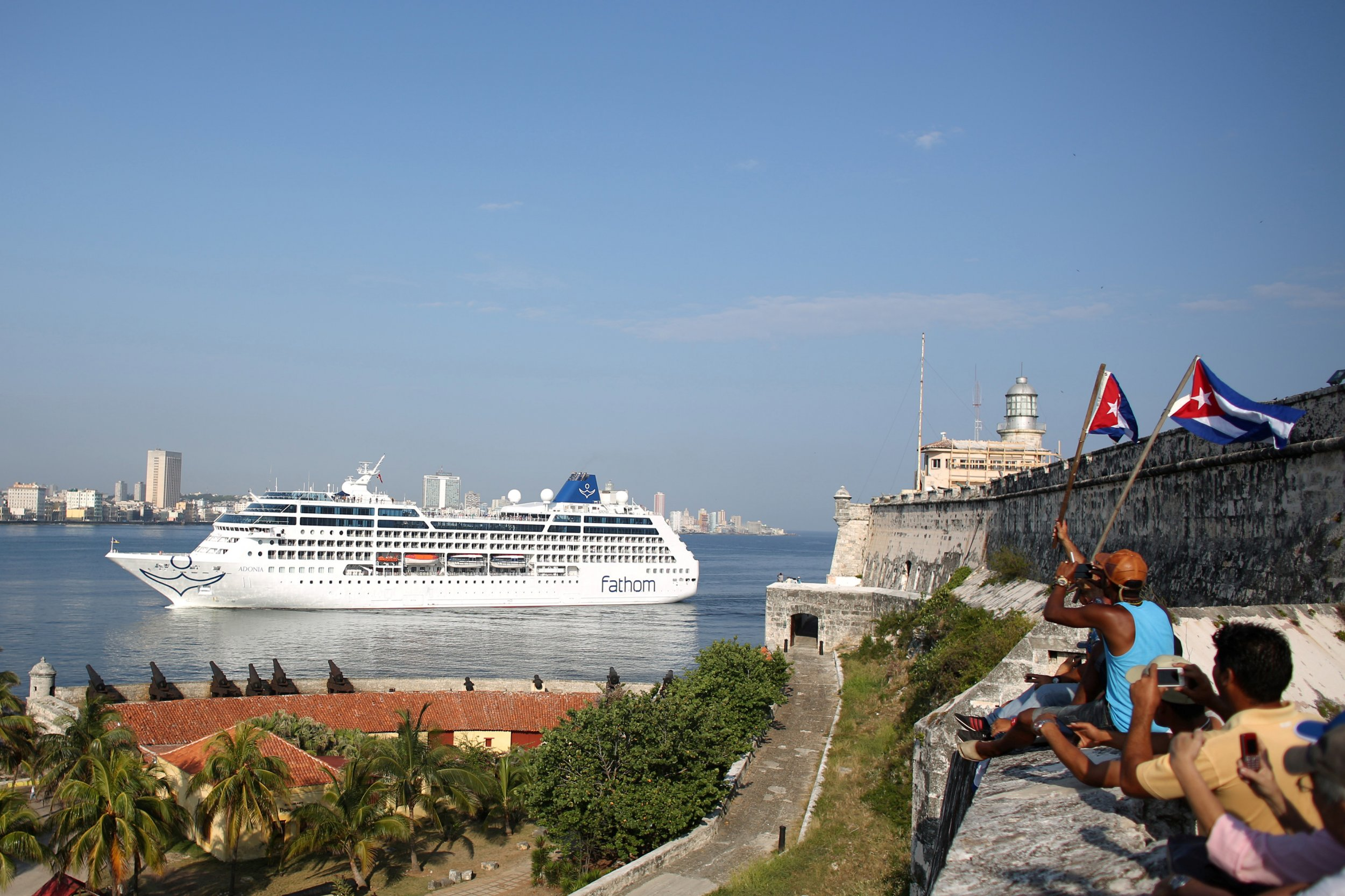 Cubans Welcome Arrival Of First US Cruise Ship In Decades