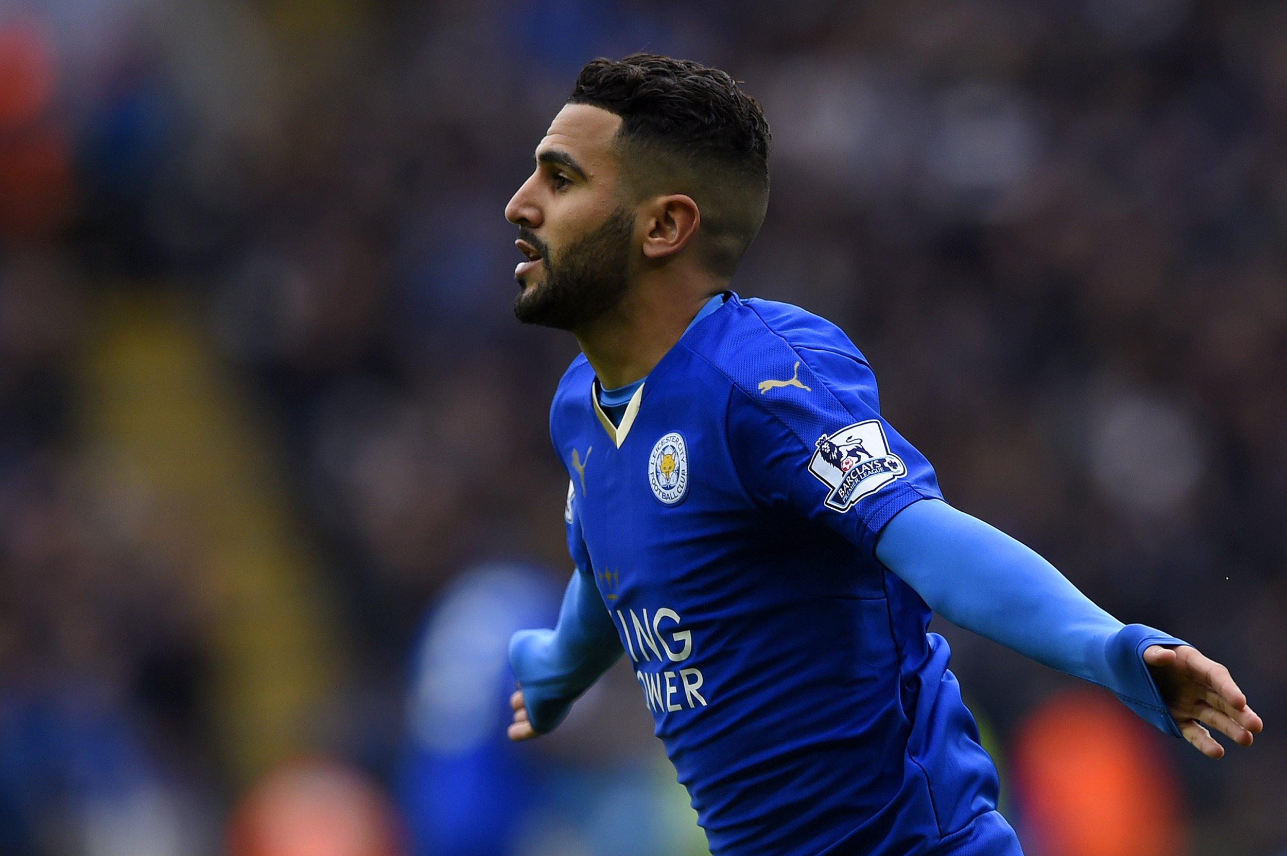 Leicester City player Riyad Mahrez.