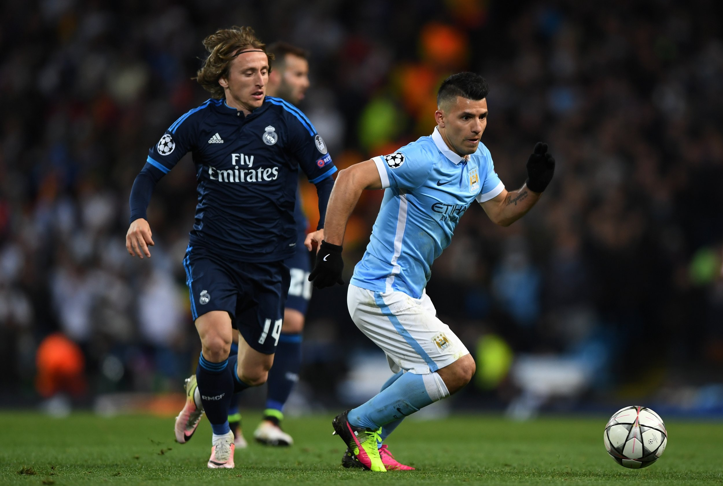 Sergio Aguero and Luka Modric