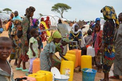 Refugees in Niger camp.