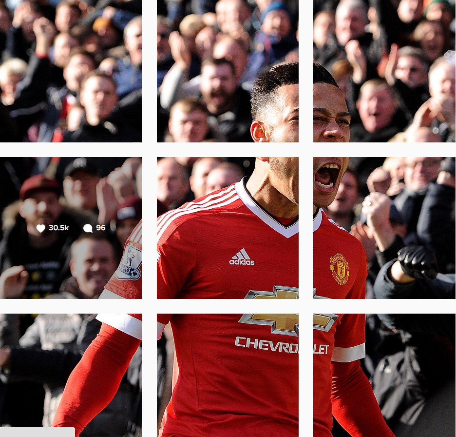 Manchester United footballer Memphis Depay.