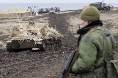 Luhansk rebels' exercise