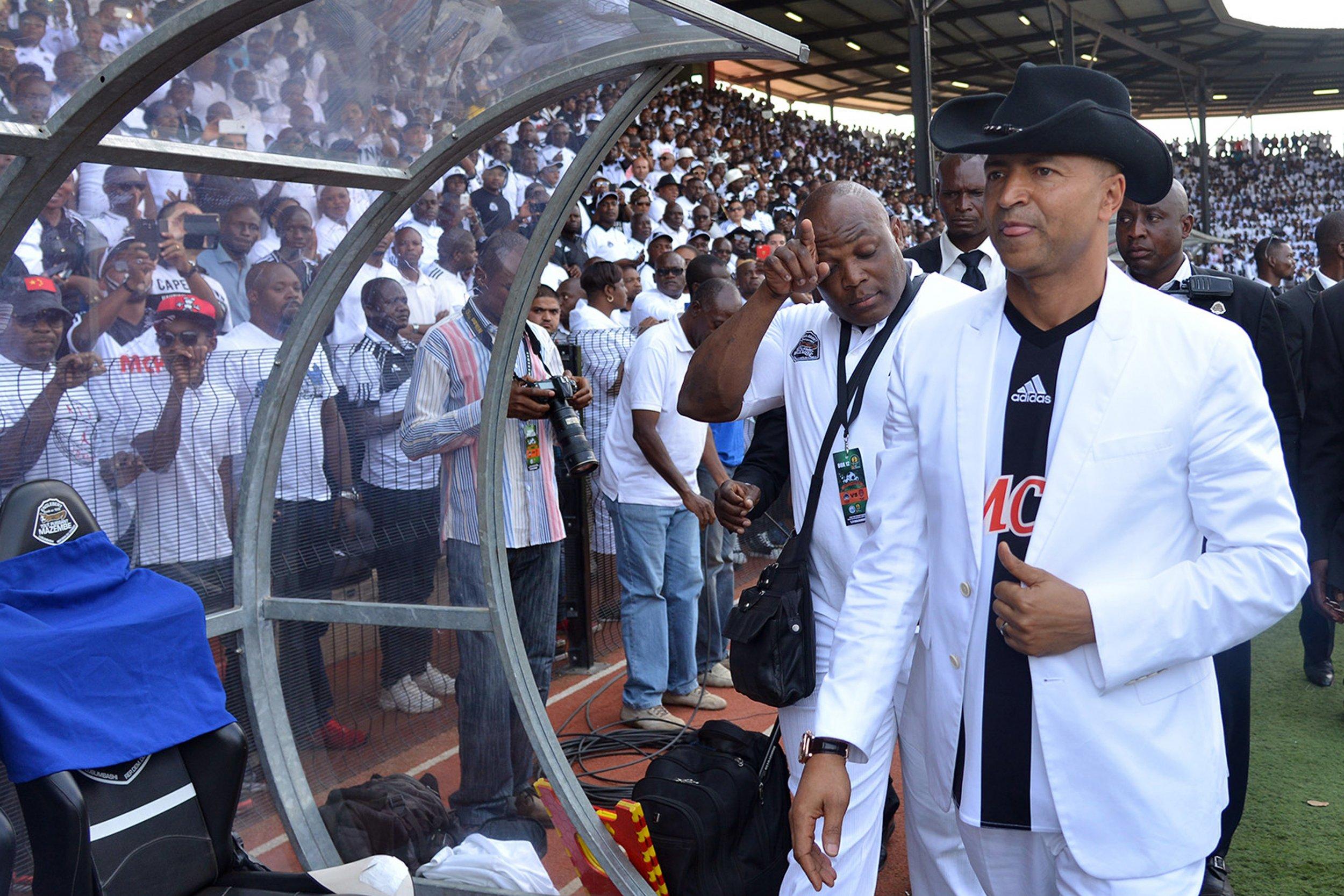 Moise Katumbi at a TP Mazembe match.