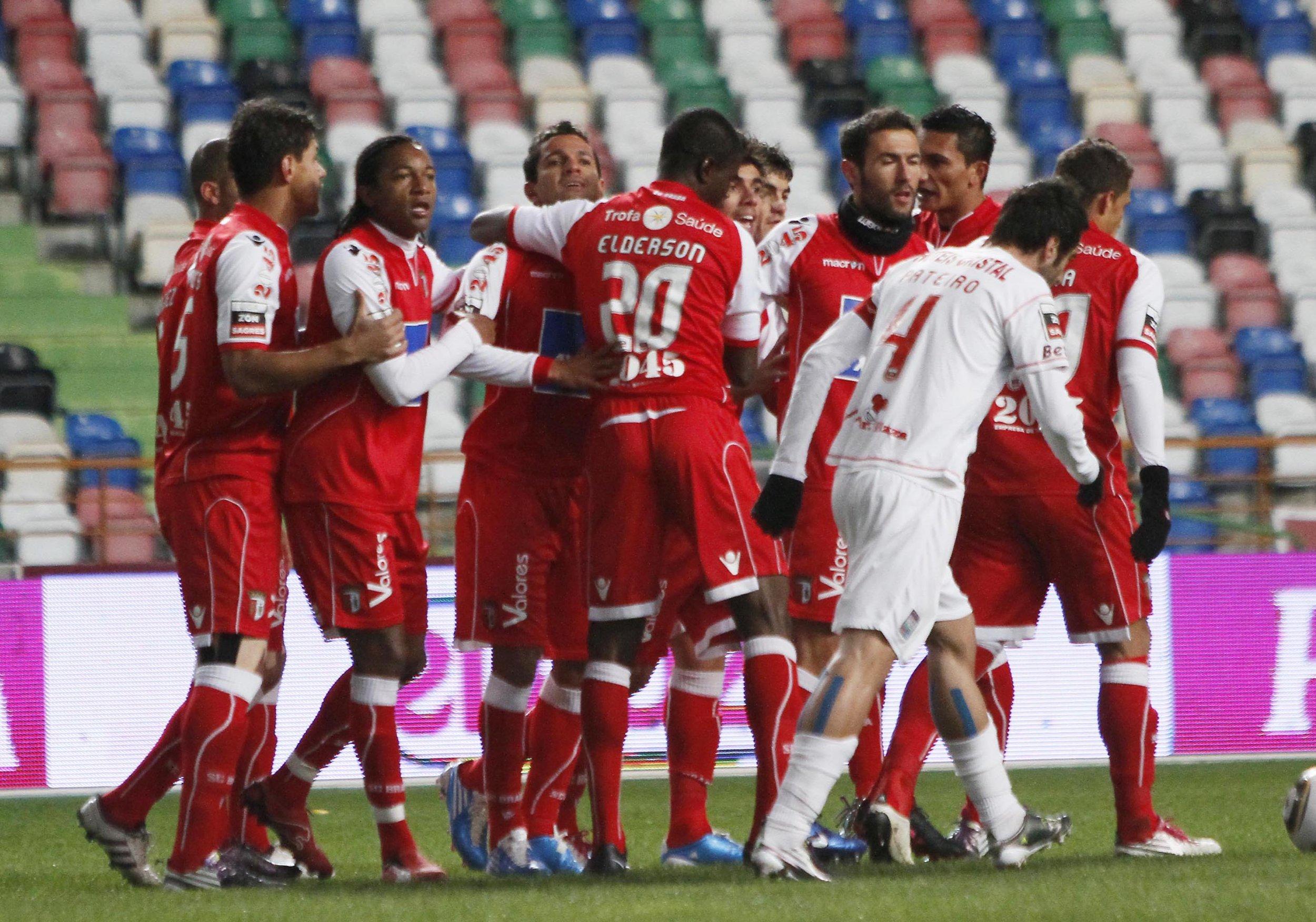 Leiria and Braga players