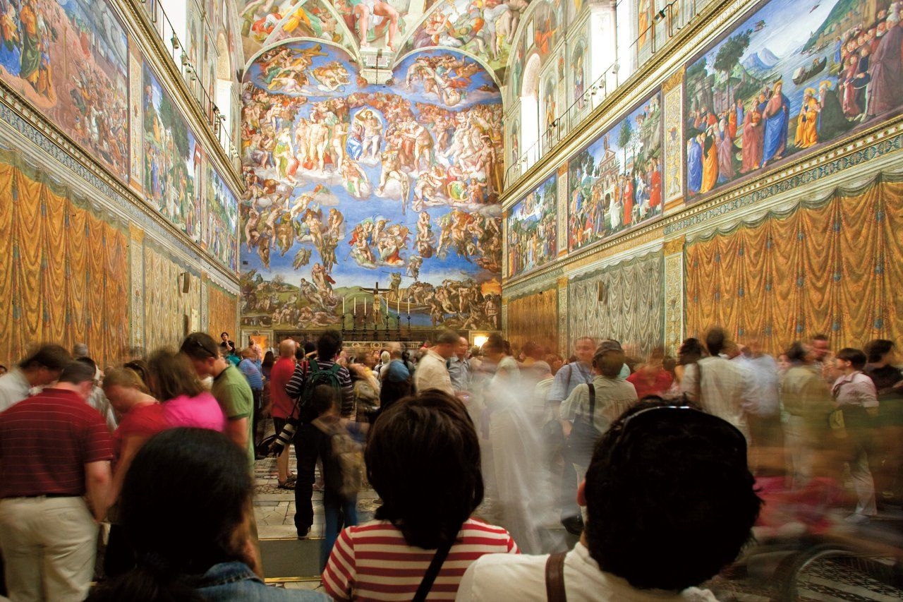 Visitors To The Sistine Chapel Get A Spiritual Cleaning