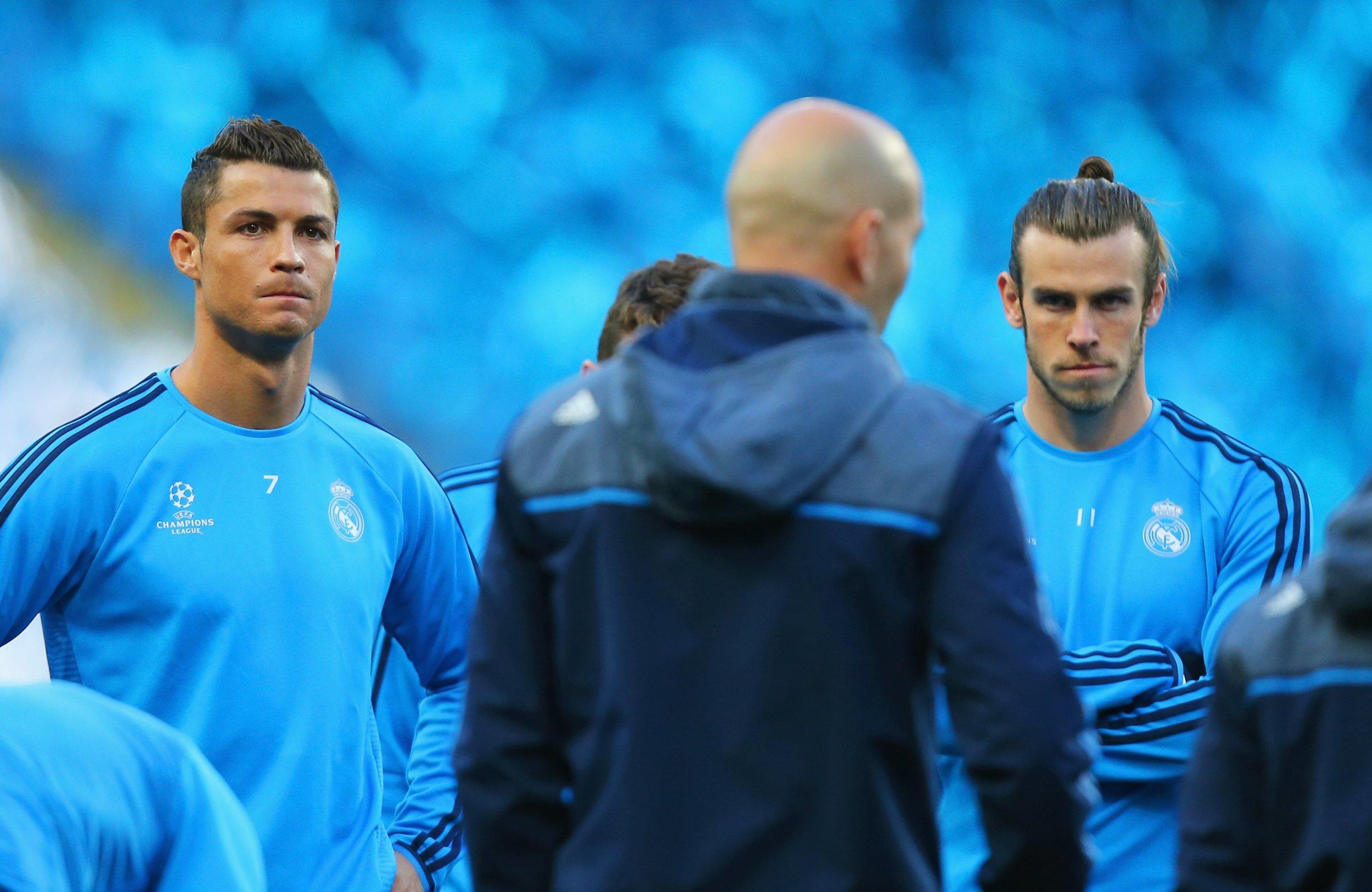 Cristiano Ronaldo, left, with teammate Gareth Bale.