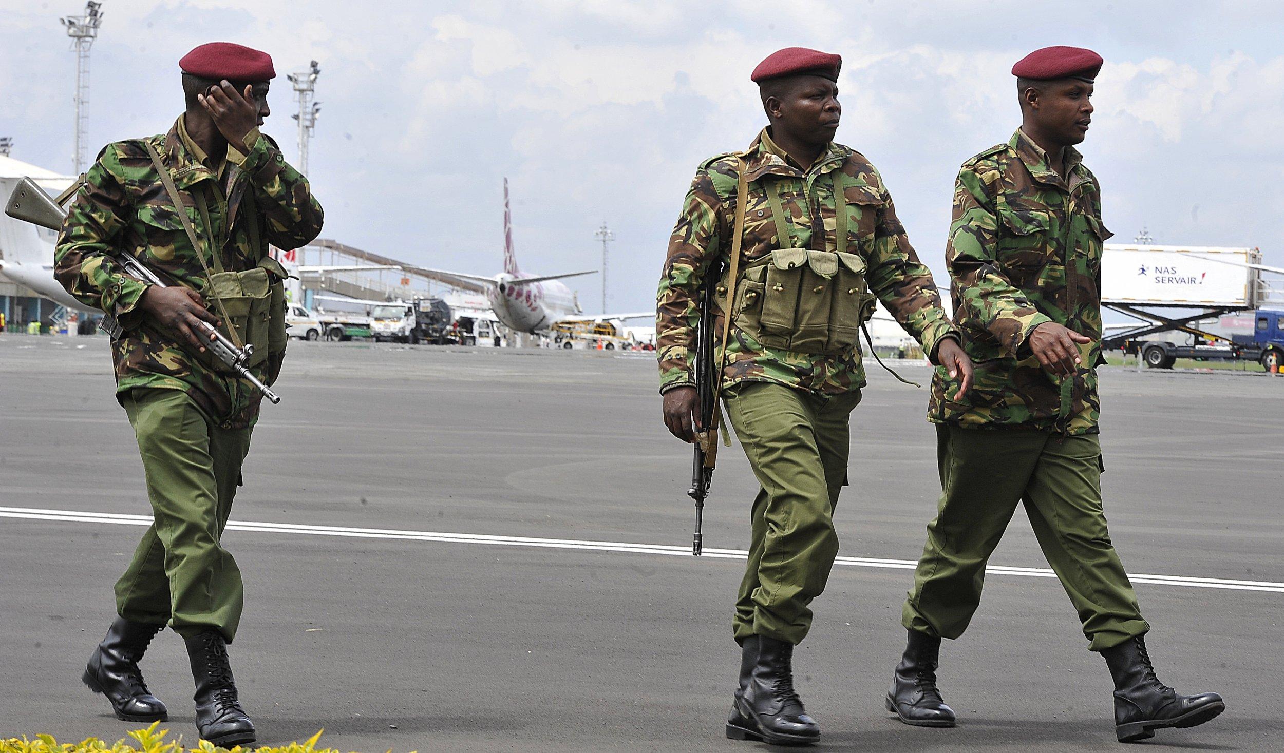 Kenyan police.
