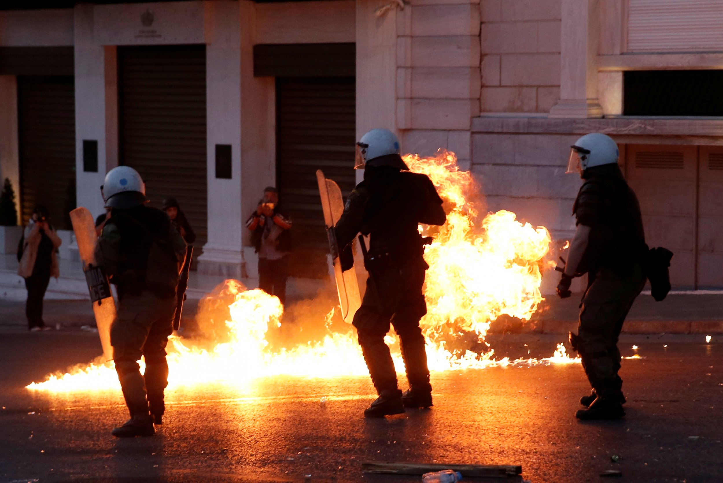 Greece riot police