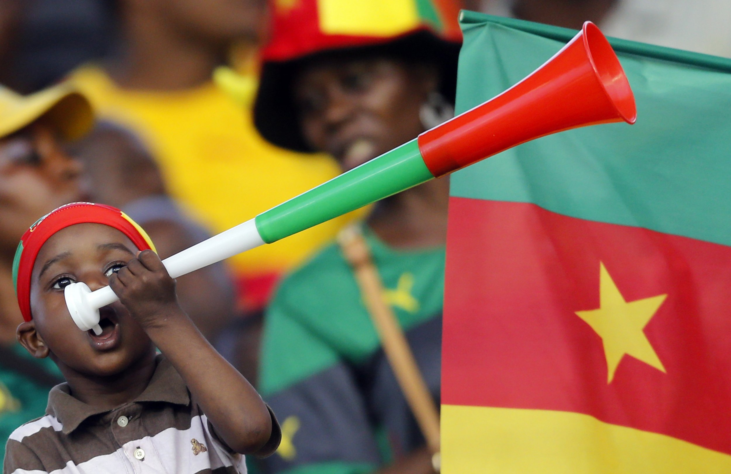 Cameroon fan at African Cup of Nations