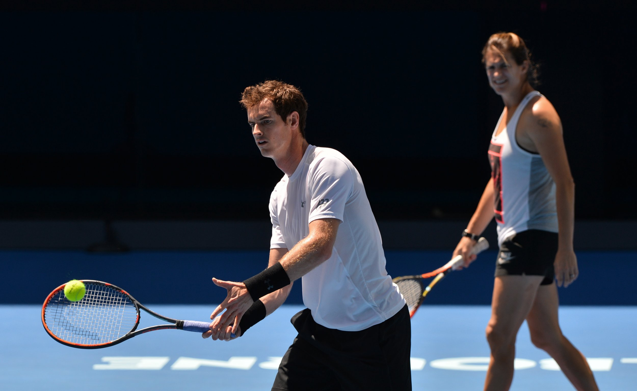 Andy Murray, left, and Amelie Mauresmo.