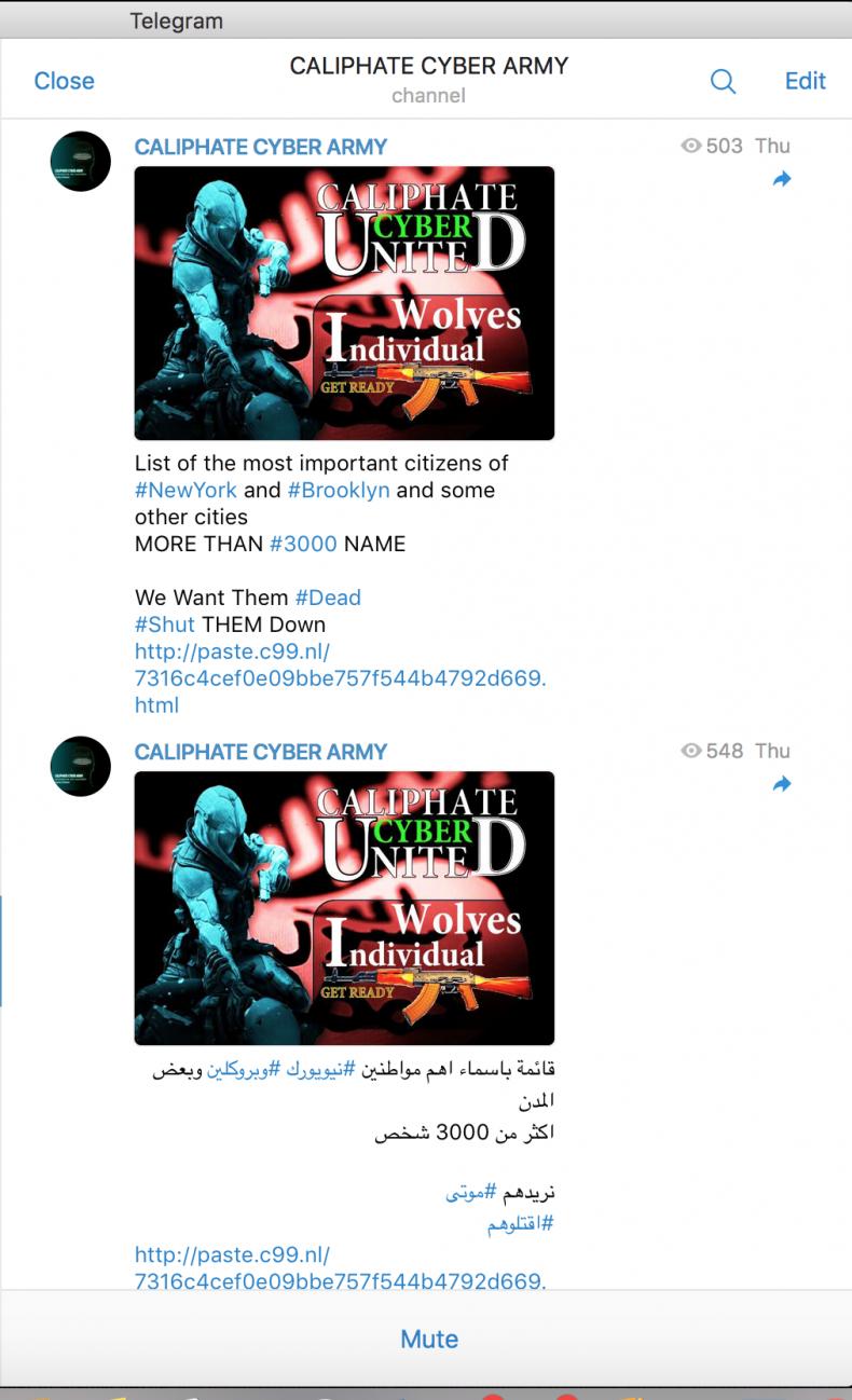 ISIS New York Cyber Hit List