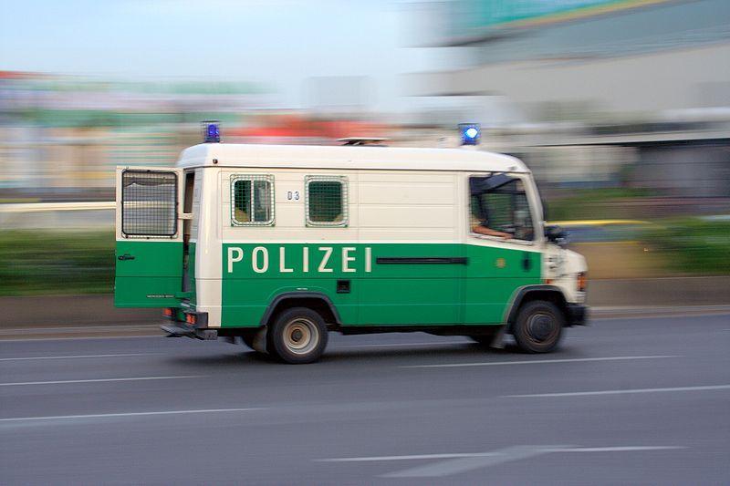 German police van