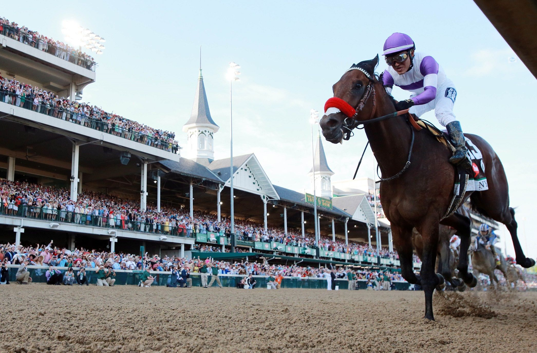 Mario Gutierrez rides Nyquis at the Kentucky Derby