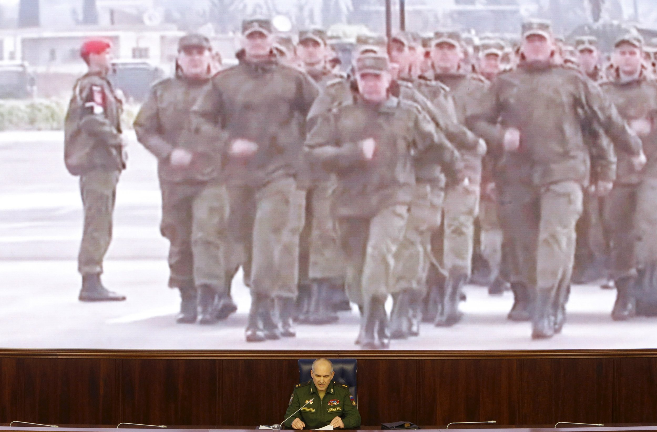 Russian army briefing