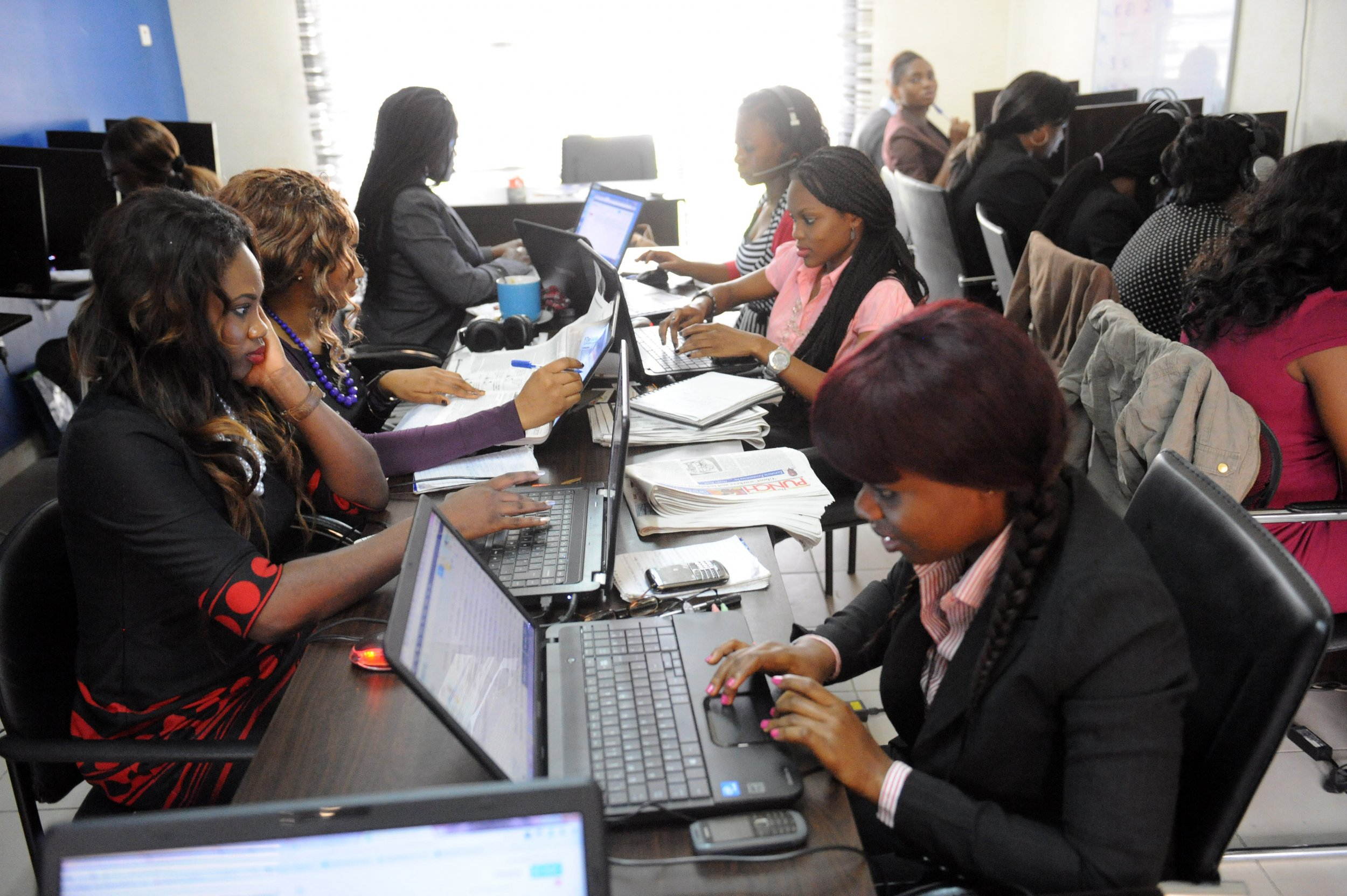 Workers for Nigerian site Jobberman in Lagos