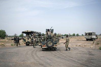 Nigerian soldiers in Borno.