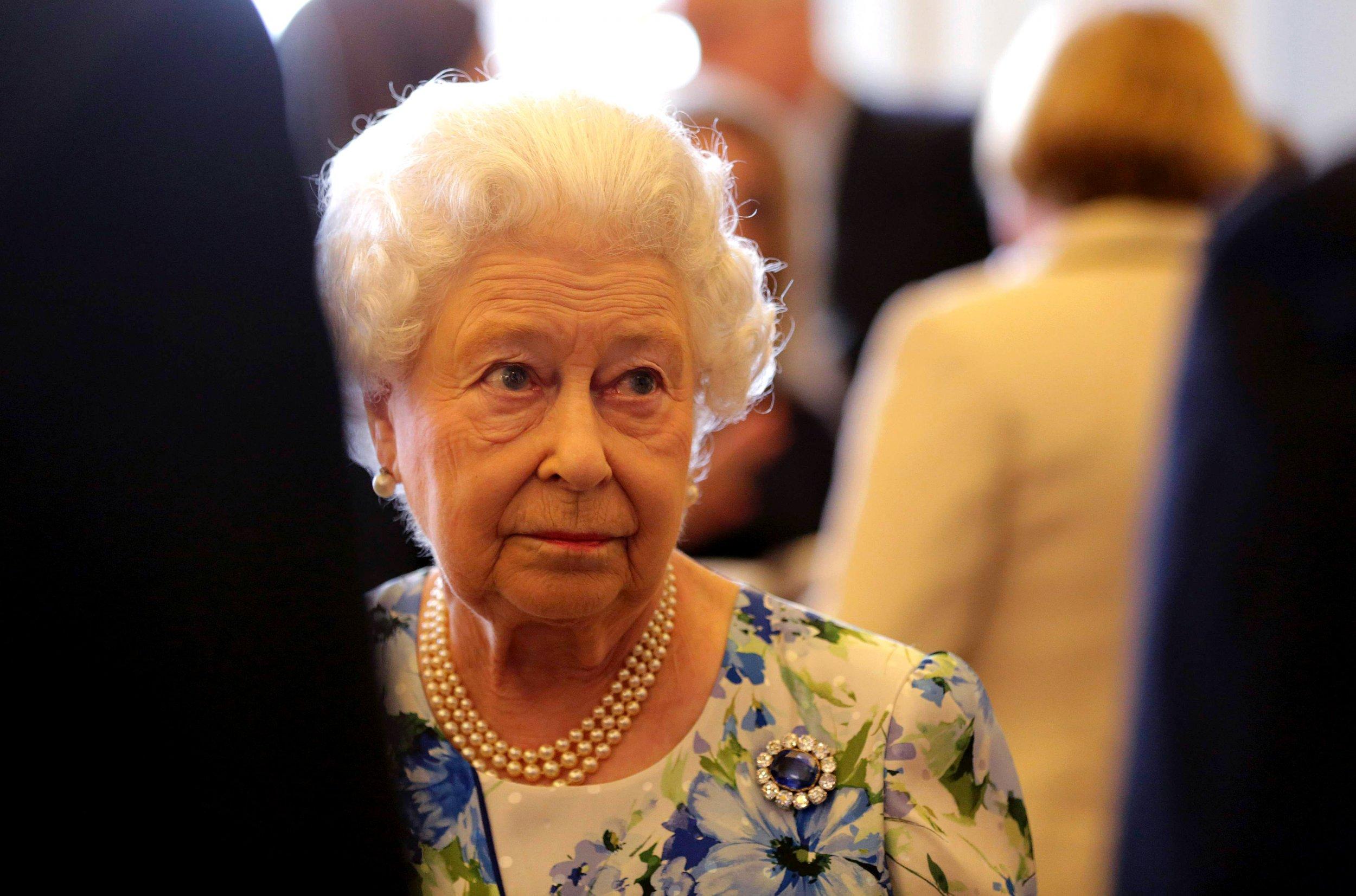 Queen Elizabeth II speaks to David Cameron