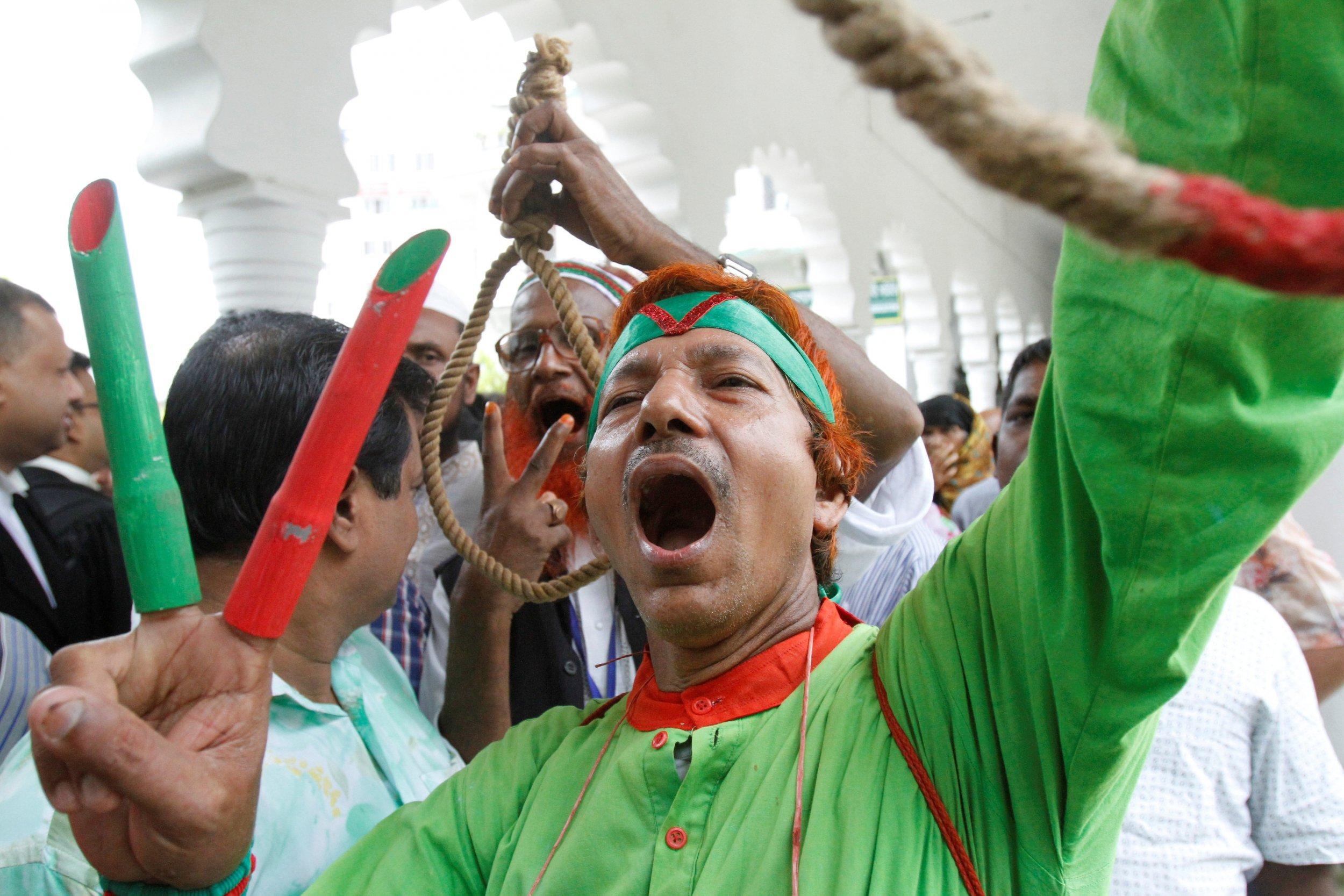 Motiur Rahman Nizami protester
