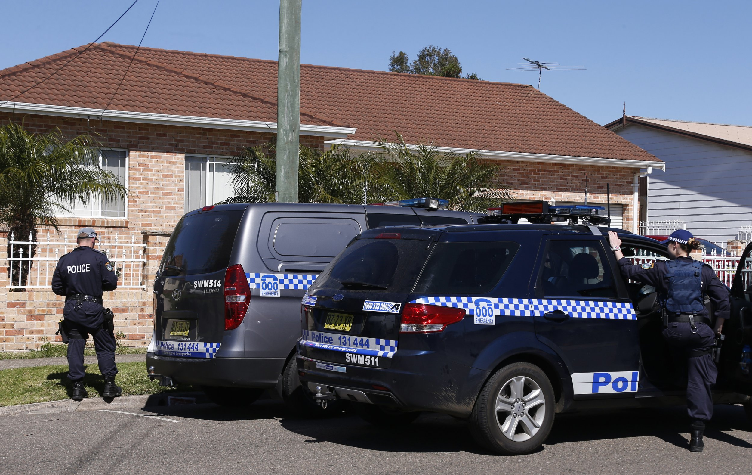 Australian police terror raid.