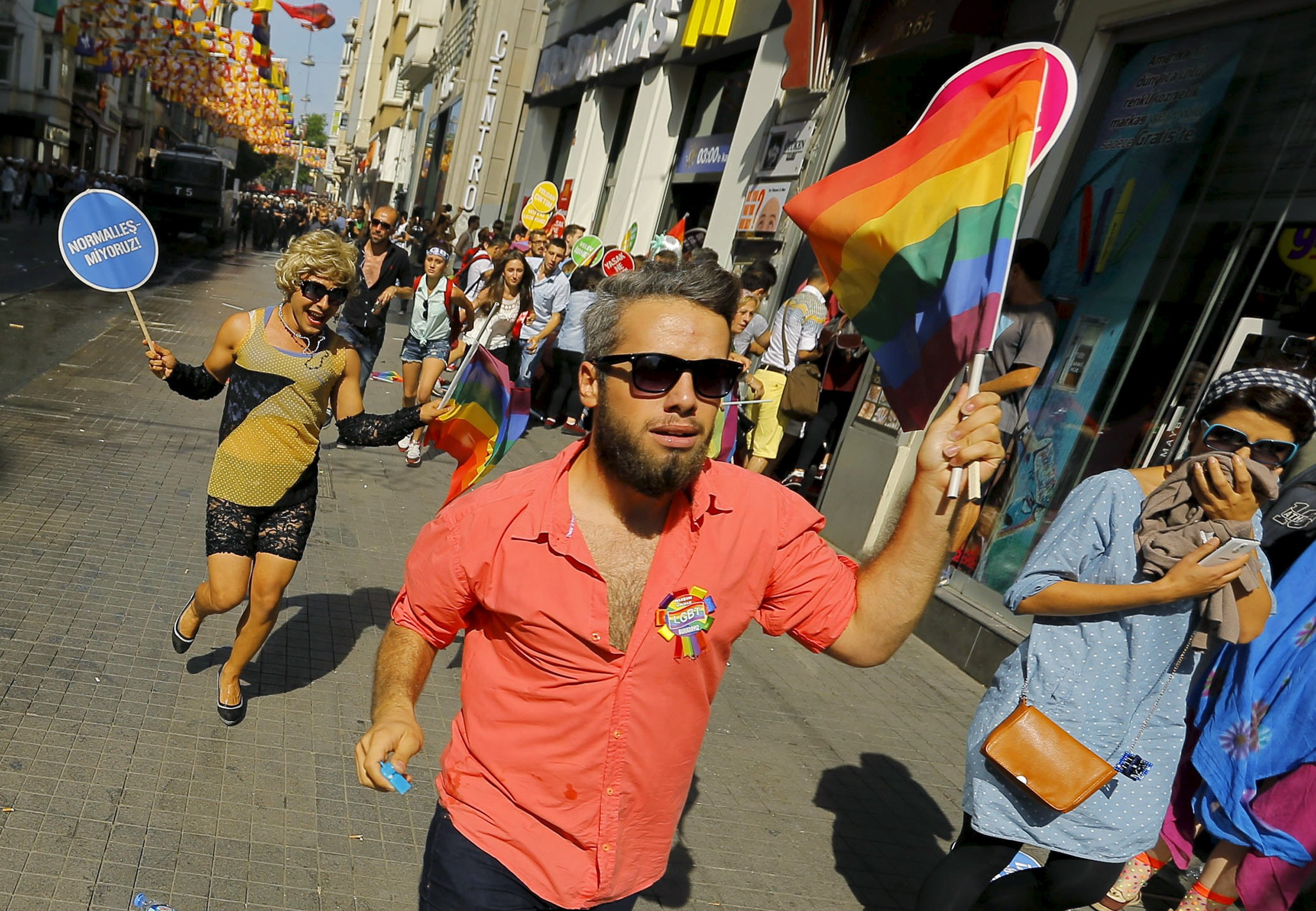 Turkish LGBT pride protesters
