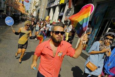 Turkish LGBT pride protesters