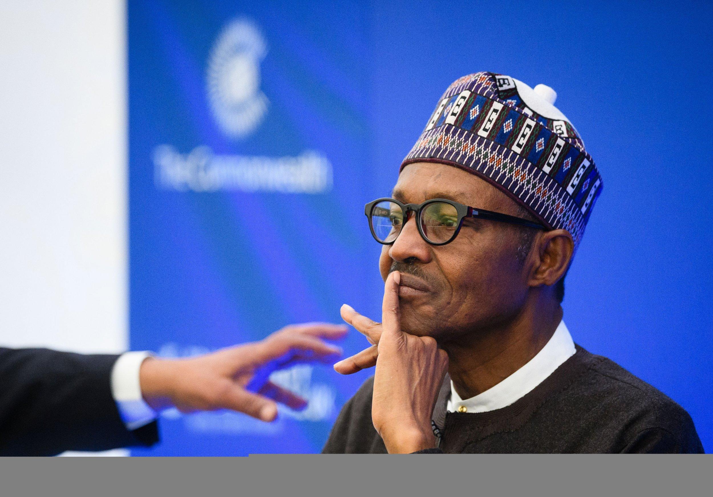 Nigerian President Muhammadu Buhari at anti-corruption summit.