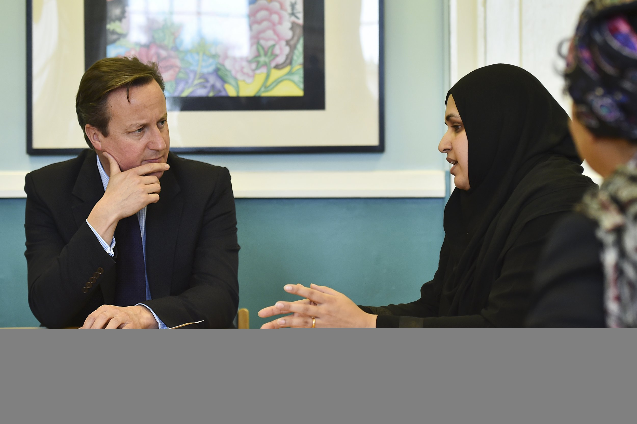 Muslim women meeting with David Cameron