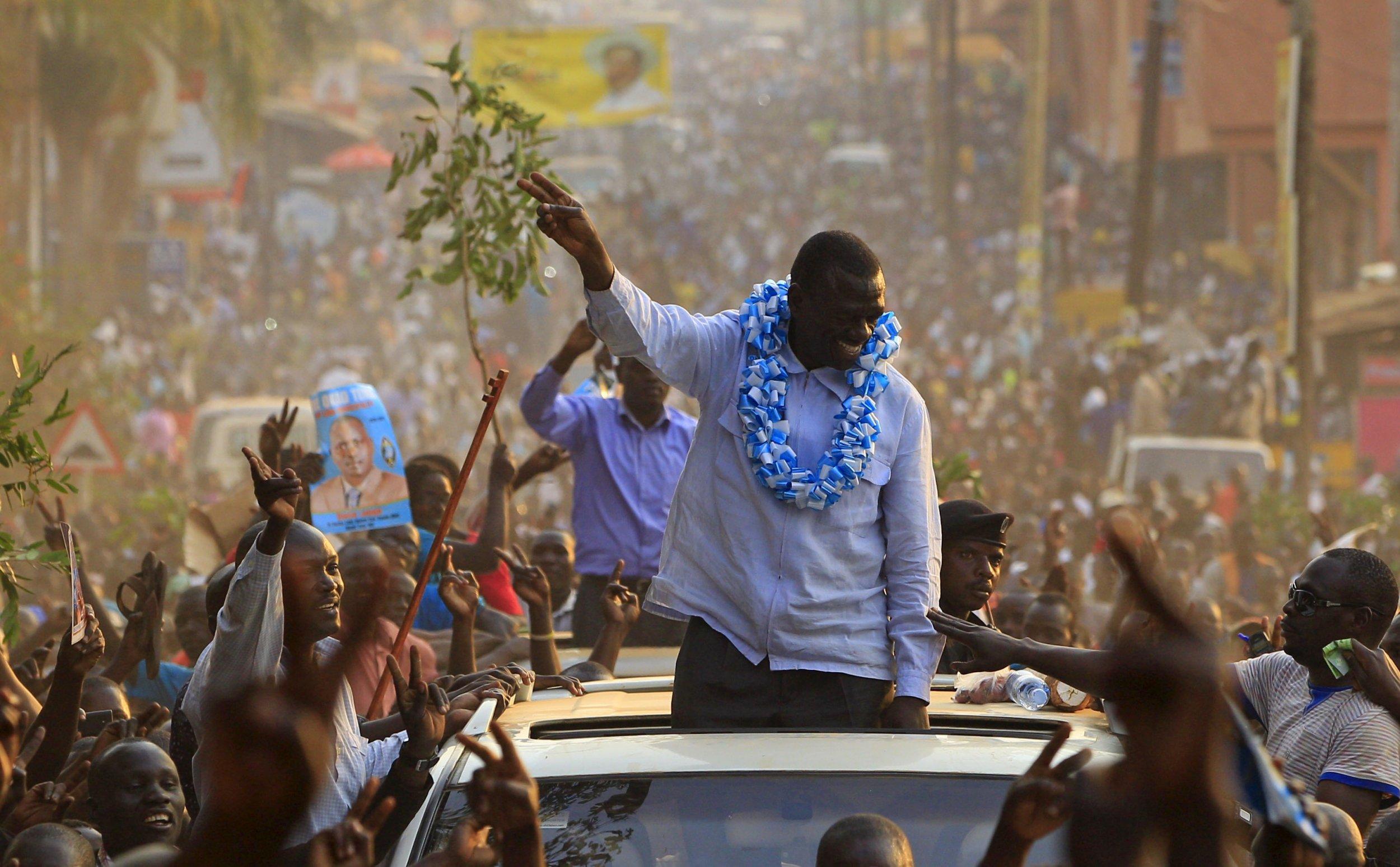 Kizza Besigye campaign rally